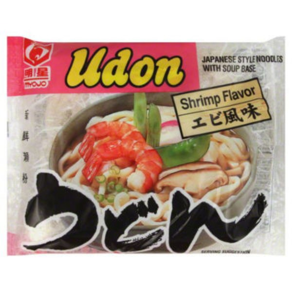 Myojo Udon Japanese Style Noodles with Soup Base Shrimp Flavor