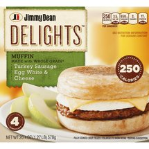 Jimmy Dean's D-Lights Turkey Sausage Muffin 4 Ct/20 Oz