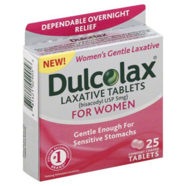 Dulcolax Pink Comfort Coated Tablets Laxative