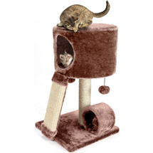Cat Craft Cat Condo Perch Brown