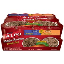 ALPO Wet Dog Food Hidden Goodness Variety Pack Pack of 12