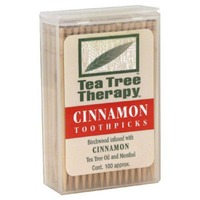 Tea Tree Therapy Toothpicks Cinnamon