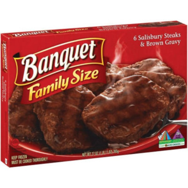Banquet Salisbury Steaks & Brown Gravy Frozen Dinner