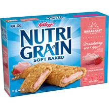 Kellogg's Nutri-Grain Soft Baked Strawberry Greek Yogurt Breakfast Bars