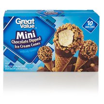 Great Value Mini Chocolate Dipped Ice Cream Cones