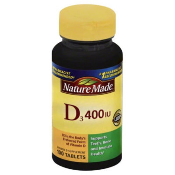 Nature Made Vitamin D3 Tablets - 100 CT