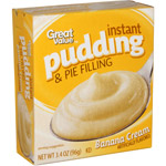 Great Value Banana Cream Instant Pudding & Pie Filling