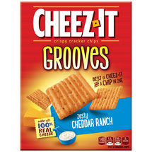 Cheez-It Grooves Zesty Cheddar Ranch Crispy Cracker Chips