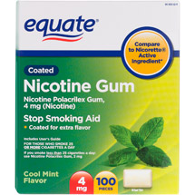 Equate Stop Smoking Aid Cool Mint Gum 4mg