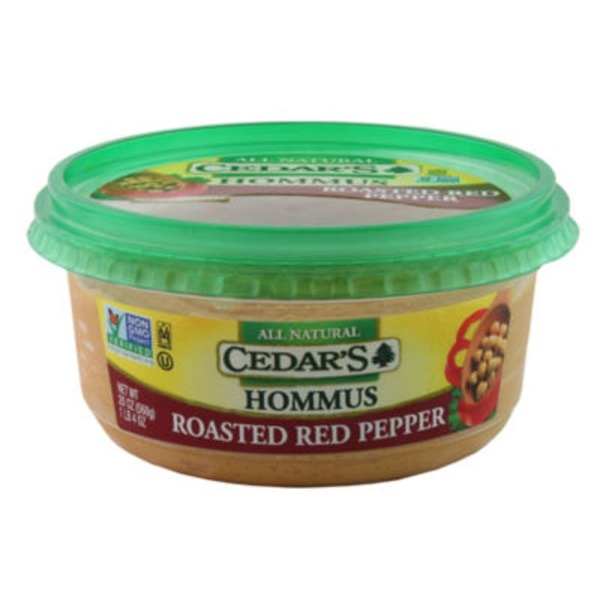 Cedar Roasted Red Pepper Hummus