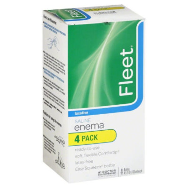 Fleet Saline Laxative Easy Squeeze Enema