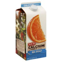 H-E-B Pasteurized No Pulp Not From Concentrate Calcium And Vitamin D 100% Orange Juice