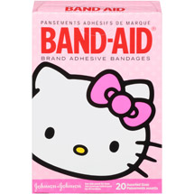 Band-Aid Brand Adhesive Bandages Decorated Hello Kitty Assorted