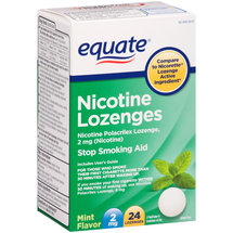 Equate Mint Flavor Nicotine Lozenges Stop Smoking Aid