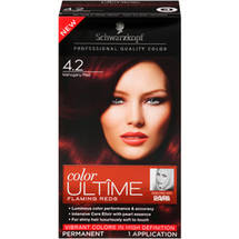 Schwarzkopf Color Ultime Flaming Reds Hair Coloring Kit 4.2 Mahogany Red