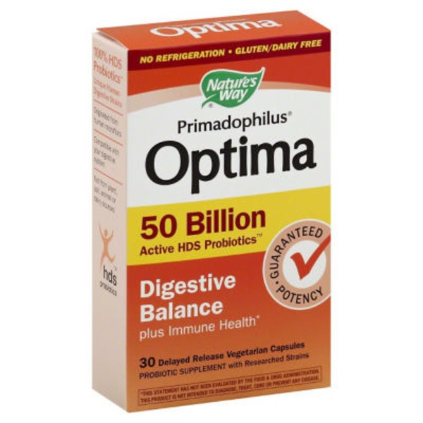 Nature's Way Primadophilus Optima Digestive Balance 50 Billion Active Probiotics