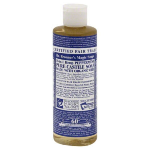 Dr. Bronner's All-One! Dr. Bronner's 18-In-1 Hemp Peppermint Pure-Castile Soap