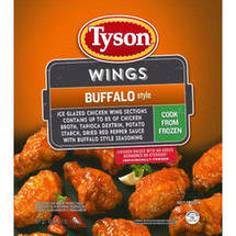 Tyson Buffalo Style Seasoned Wings Sections
