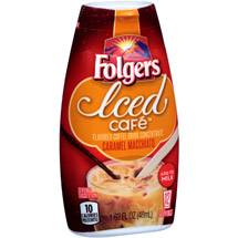 Folgers Iced Cafe Caramel Macchiato Coffee Drink Concentrate