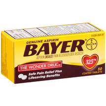Bayer Aspirin Pain Reliever/Fever Reducer Coated Tablets