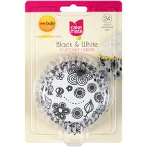Cake Mate Black & White Cupcake Liners Standard Size