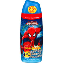 Marvel Ultimate Spiderman Berry Blast 3 in 1 Body Wash Shampoo & Conditioner