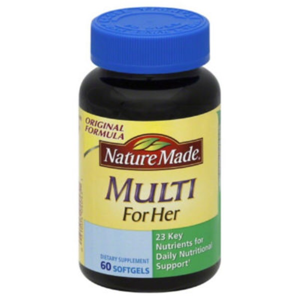 Nature Made Multi for Her Full Strength MINIs Dietary Supplement Softgels - 60 CT