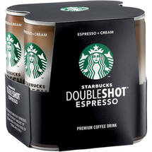Starbucks Doubleshot Espresso & Cream Coffee Drink 4 Ct/26 Fl Oz
