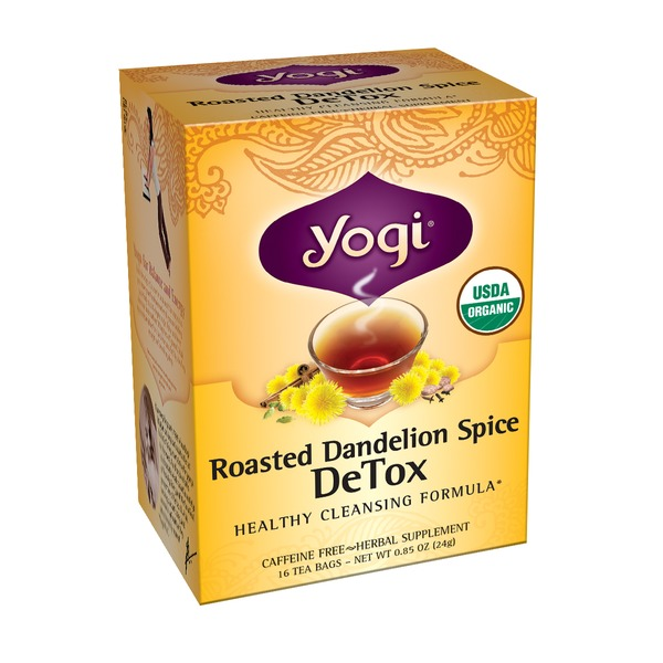 Yogi DeTox Roasted Dandelion Spice Tea Bags - 16 CT