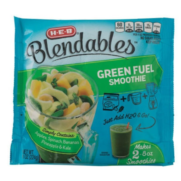 H-E-B Blendables Green Fuel Smoothie