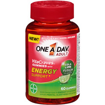 One A Day Adult VitaCraves Cola Lime Fusion Flavor Gummies