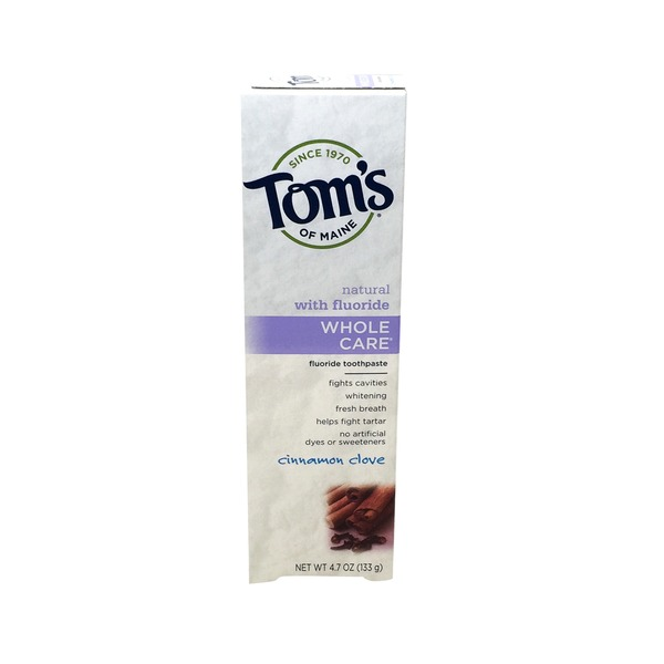 Tom's of Maine Whole Care with Fluoride Cinnamon Clove