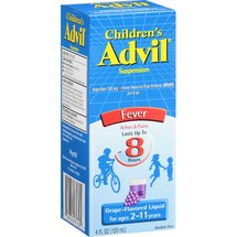 Children's Advil Suspension Fever Reducer/Pain Reliever Grape