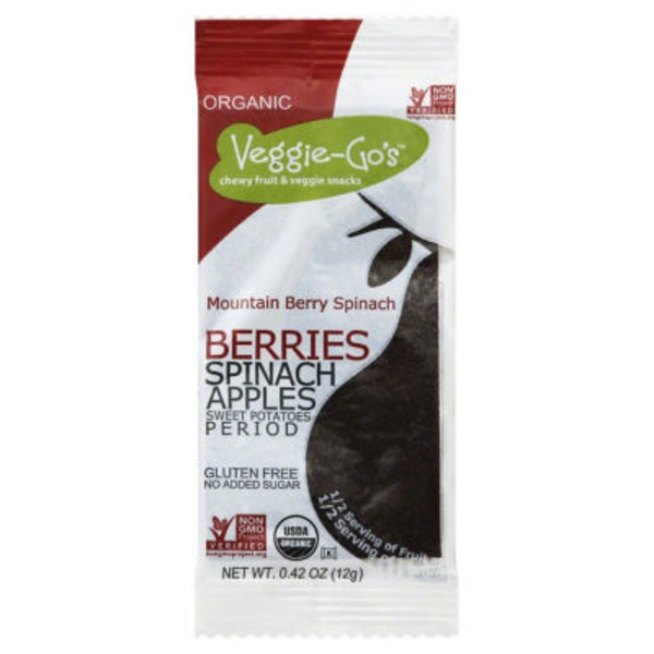 Veggie Go's Mountain Berry Spinach Apple Fruit & Veggie Snack