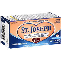 St. Joseph Aspirin Pain Reliever 81mg Enteric Coated Tablets