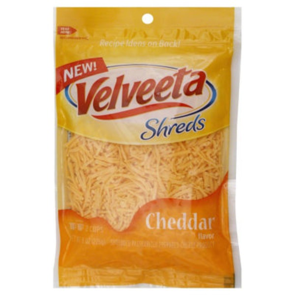 Kraft Velveeta Shreds Shredded Cheddar Cheese