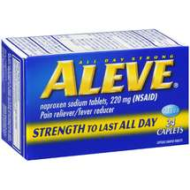 Bayer Aleve Pain Reliever/Fever Reducer Caplets Analgesic
