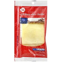Kroger Aged Sharp White Cheddar Cheese Slices