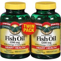 Spring Valley Enteric Coated Fish Oil Softgels