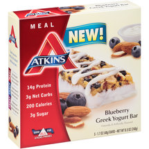 Atkins Blueberry Greek Yogurt Meal Bars