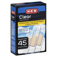 H-E-B Clear Bandages Assorted Sizes