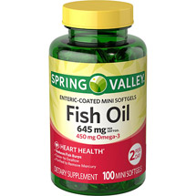 Spring Valley Enteric Coated Fish Oil 1290 mg