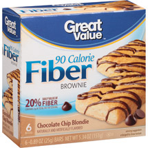 Great Value Chocolate Chip Blondie 90 Calorie Fiber Brownie
