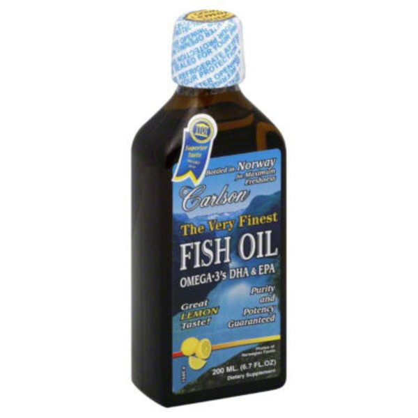 Carlson Labs Fish Oil, Lemon