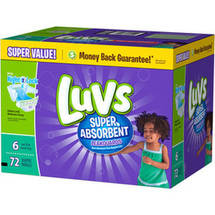 Luvs Leakguards Super Absorbent Diapers Size 6