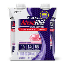 EAS Advantedge Strawberry Cream Carb Control Shake 11 oz