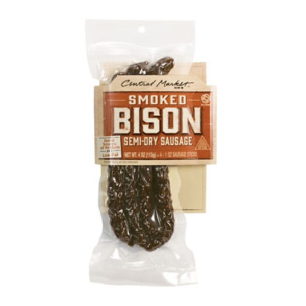 Central Market Bison Sausage Semi Dry