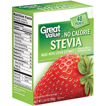 Great Value No Calorie Stevia Packets
