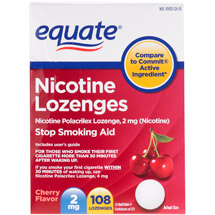 Equate Stop Smoking Aid Nicotine Lozenge 2mg Cherry