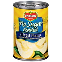 Del Monte No Sugar Added Sliced Bartlett Pears Packed in Water, Artificially Sweetened Pears